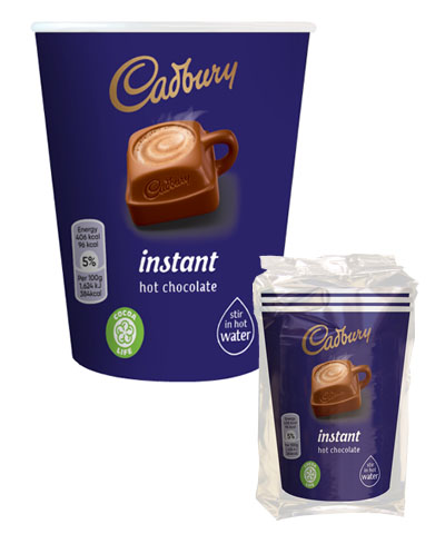 Branded vending - Cadbury Hot Chocolate 12oz cup