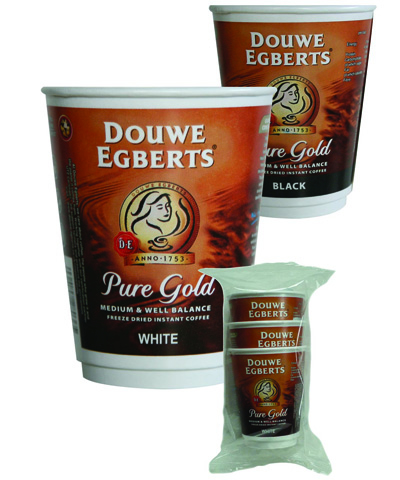 Branded vending - Douwe Egberts Pure Gold Coffee 12oz cup
